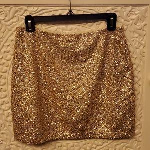 Mini sequins skirt
